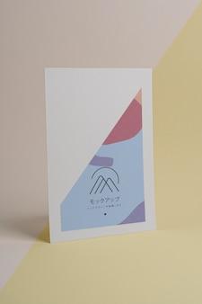 Maqueta de folleto de formas abstractas