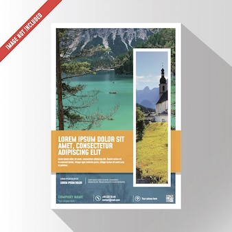 Maqueta de folleto de negocios creativos