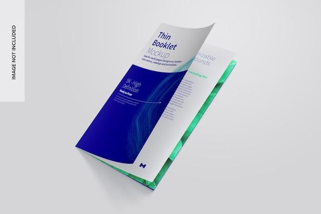 Maqueta de folleto o catálogo delgado