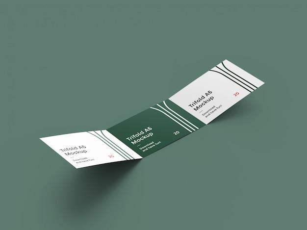 Maqueta de folleto de paisaje