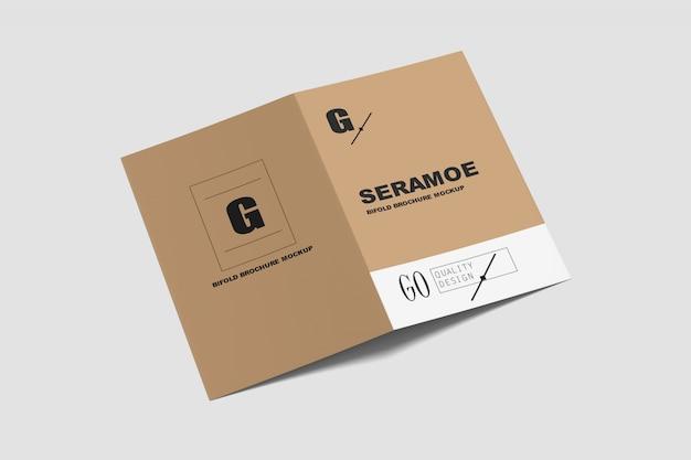 Maqueta de folleto plegable a4