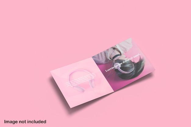 Maqueta de folleto plegable cuadrado limpio