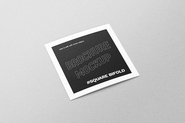 Maqueta de folleto plegable cuadrado