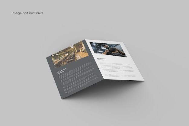 Maqueta de folleto plegable minimalista