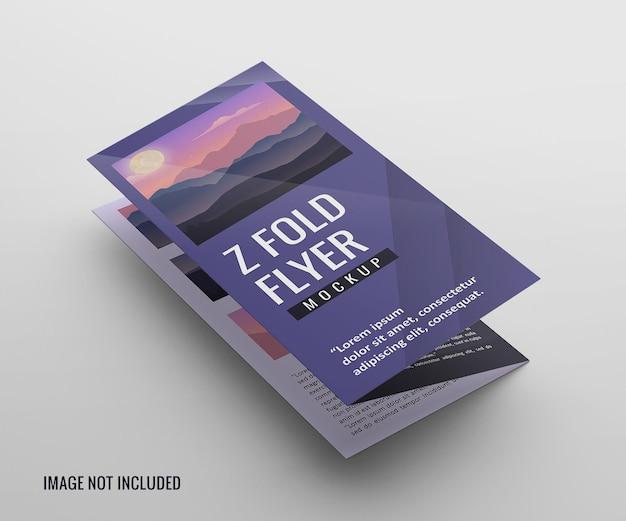 Maqueta de folleto plegable de puerta