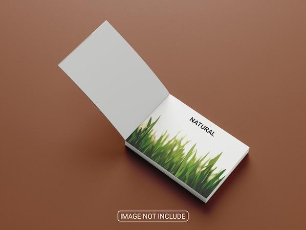 Maqueta de folleto plegable de vista superior aislada