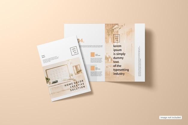 Maqueta de folleto plegable