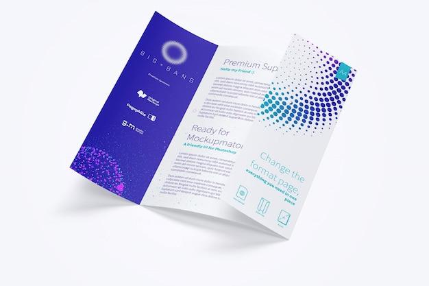 Maqueta de folleto de pliegue de puerta abierta