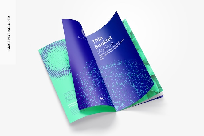 Maqueta de folleto, revista o catálogo delgado