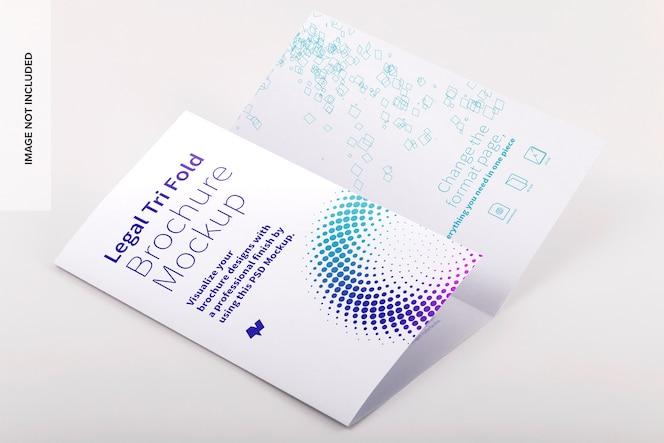 Maqueta de folleto tríptico legal