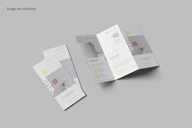 Maqueta de folleto tríptico minimalista