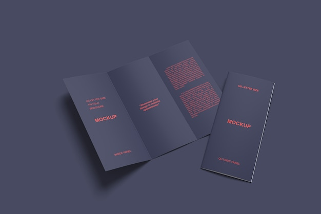 Maqueta de folleto tríptico moderno