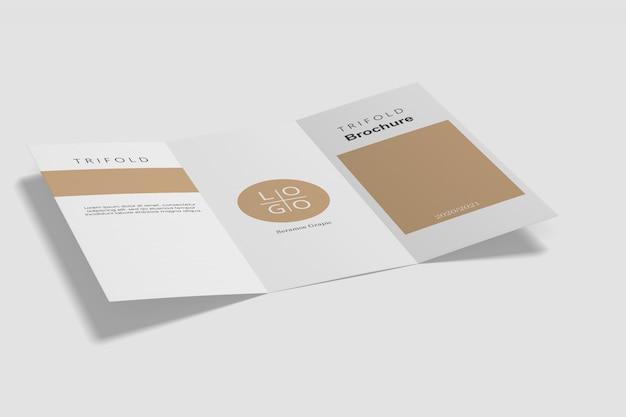Maqueta de folleto tríptico