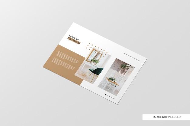 Maqueta de folleto de vista en perspectiva