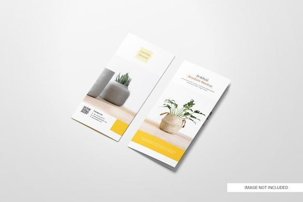 Maqueta de folleto de volante bifold