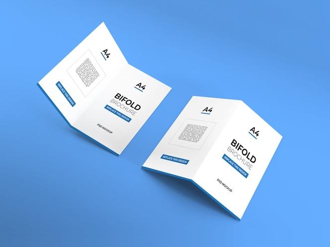 Maqueta de folletos plegables a4 realistas