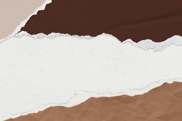 Maqueta de fondo de papel rasgado psd tono tierra manualidades