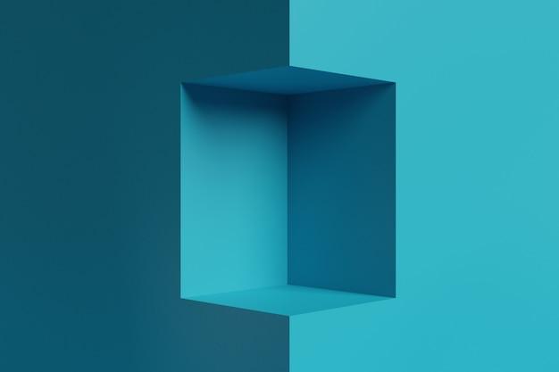 Maqueta de fondo de visualización de etapa de representación 3d para scene creator