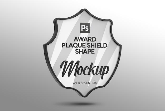 Maqueta de forma de escudo de placa de premio