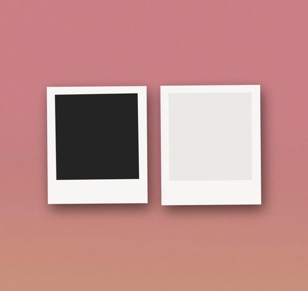 Maqueta de fotos polaroid
