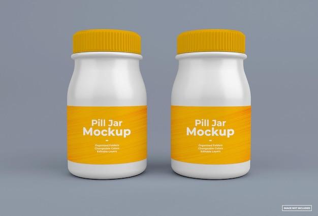 Maqueta de frasco de pastillas diseño aislado