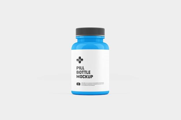 Maqueta del frasco de pastillas