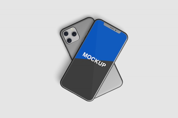 Maqueta frontal realista para teléfonos inteligentes