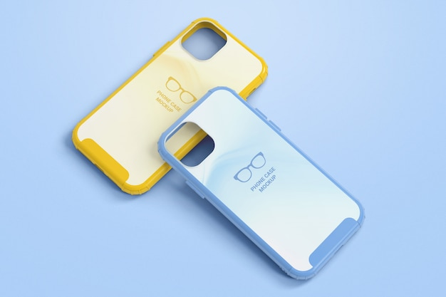 Maqueta de fundas protectoras para teléfonos inteligentes