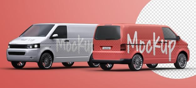 Maqueta de furgoneta de reparto de vehículos comerciales aislada