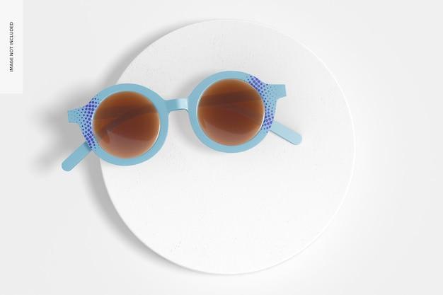 Maqueta de gafas de sol para niños