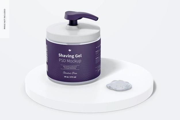 Maqueta de gel de afeitar de 16 oz, en superficie