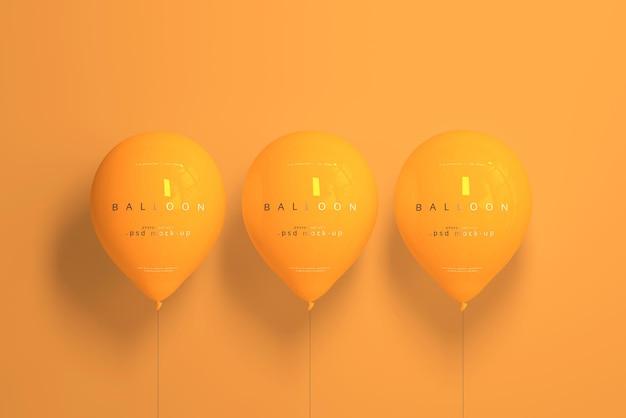 Maqueta de globo naranja