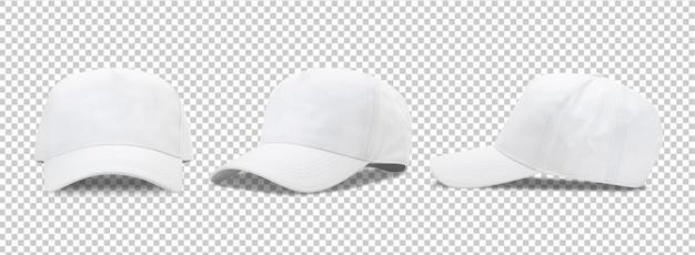 Maqueta de gorra de béisbol blanca