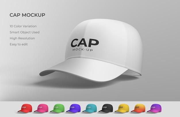 Maqueta de gorra blanca
