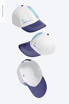 Maqueta de gorras, cayendo