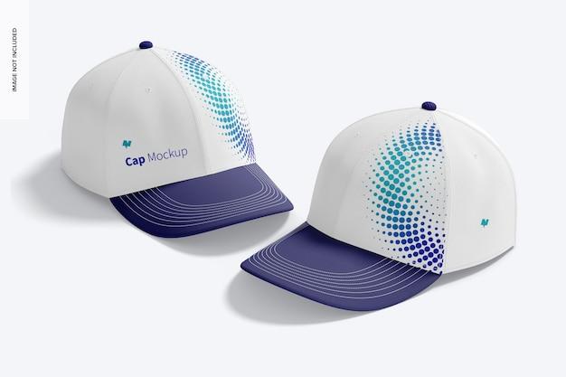 Maqueta de gorras, perspectiva