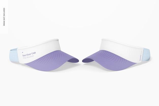 Maqueta de gorras de visera solar