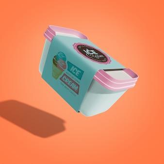 Maqueta de helado flotando