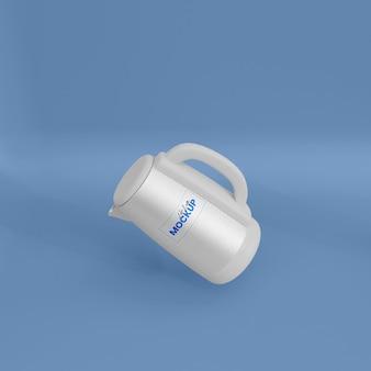 Maqueta de hervidor de agua de metal 3d