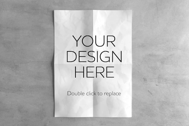 Maqueta de hoja de papel a4