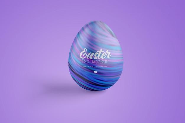 Maqueta de huevo de pascua, vista frontal