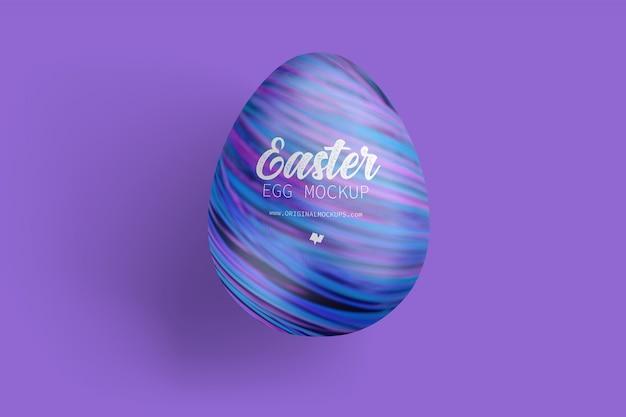 Maqueta de huevo de pascua, vista superior