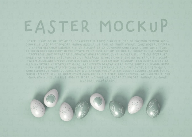 Maqueta de huevo de pascua