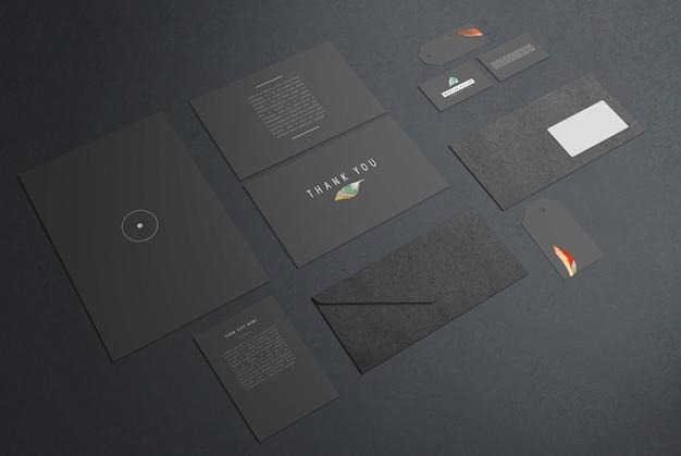 Maqueta de identidad de marca moderna