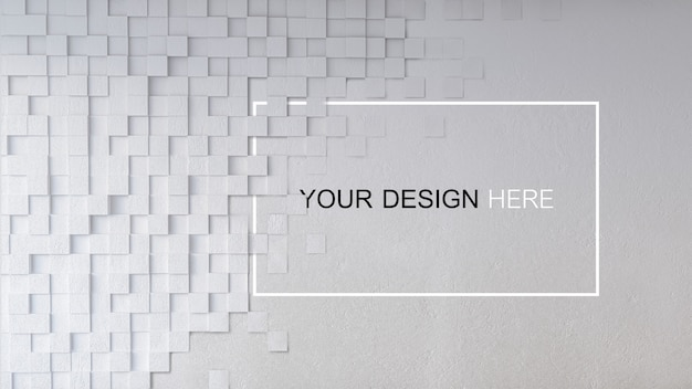 Maqueta de imagen 3d de muro de hormigón