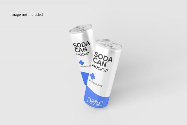 Maqueta impresionante de dos latas