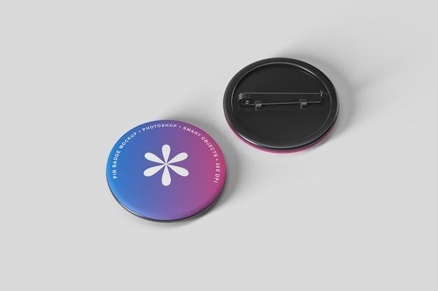 Maqueta de insignia de botón pin