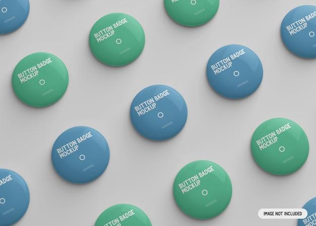 Maqueta de insignia de botón