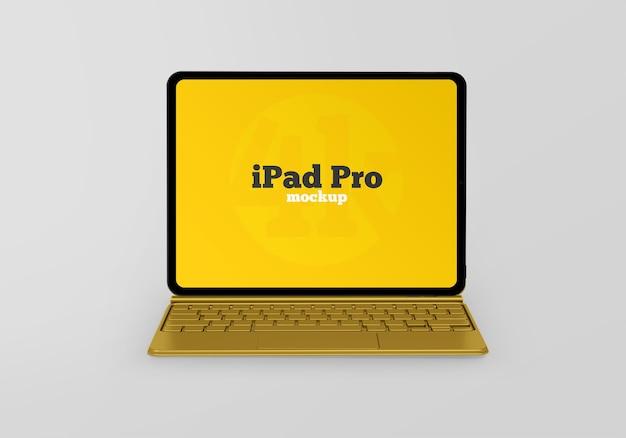 Maqueta de ipad pro con teclado