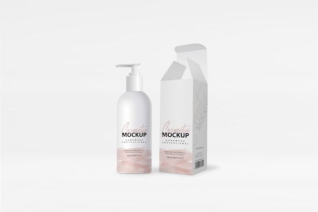 Maqueta de jabón líquido